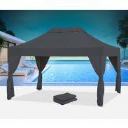 E-Z UP® - Bungalow® - 3 x 4,5 m - mit 6 Vorhängen