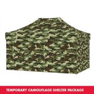 Eclipse™ camouflage shelter package 3 x 4,5 m