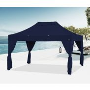 E-Z UP® - Bungalow® - 3 x 4,5m - mit 4 Vorhängen